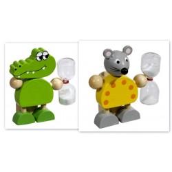 KLEPSYDRA ODMIERZACZ CZASU MYCIA ZĘBÓW mysz lub krokodyl